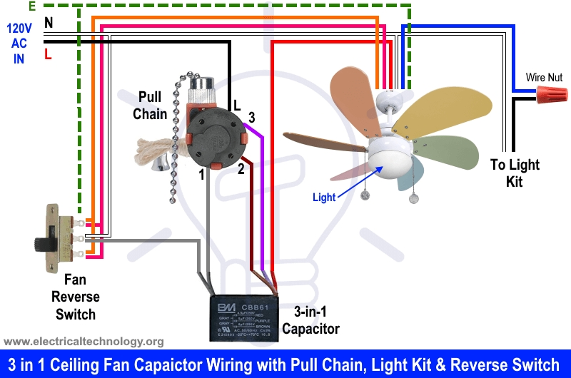 8 Images Installing 5 Wire Ceiling Fan Capacitor And Description
