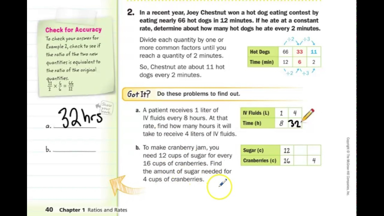 4 Images Lesson 4 Skills Practice Ratio Tables Answer Key ...