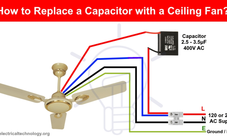 8 Images Installing 5 Wire Ceiling Fan Capacitor And