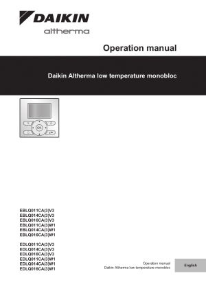 Daikin ducted air conditioning operation manual