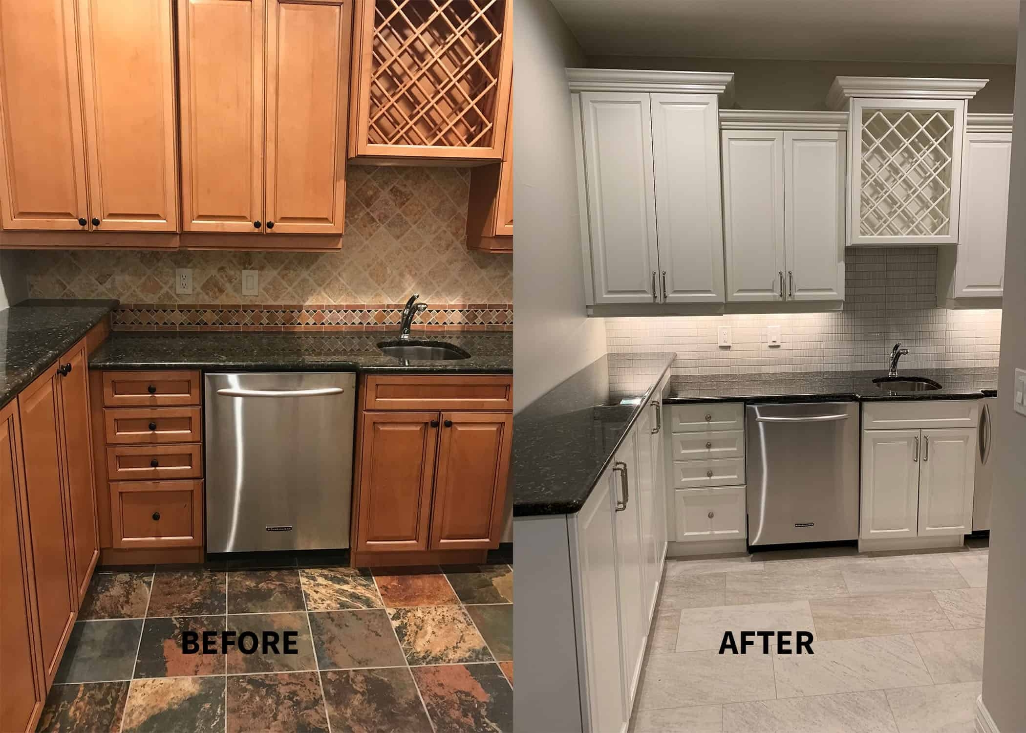 8 Images Staining Kitchen Cabinets Before And After ...