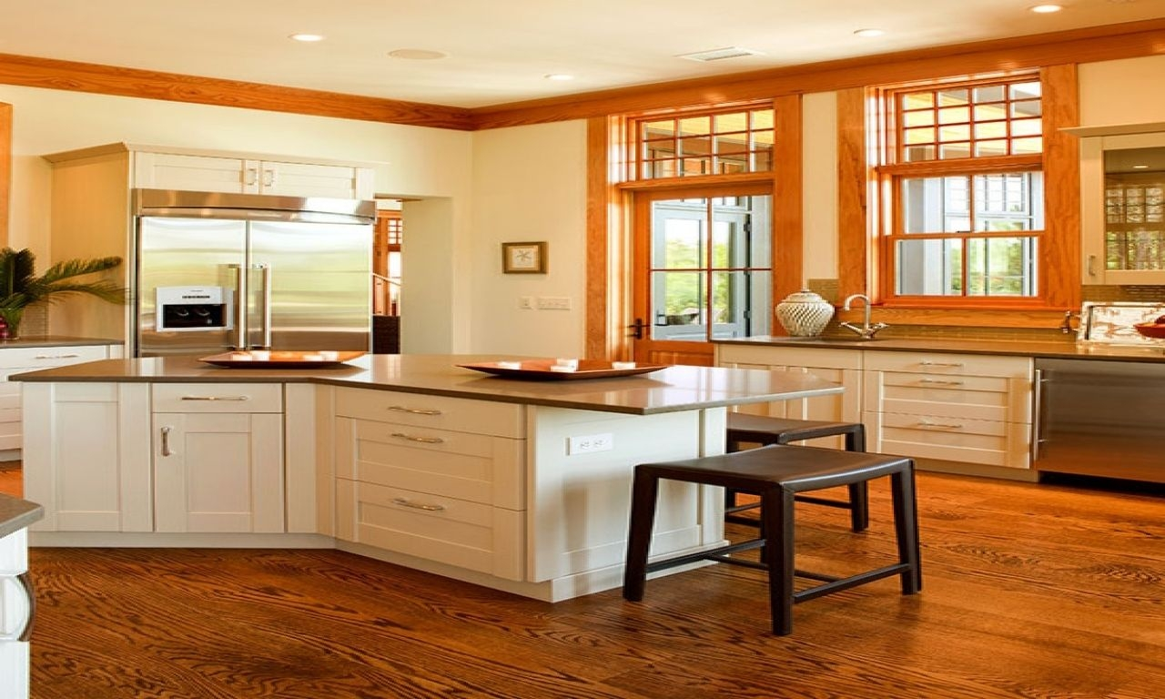 8 Images White Melamine Kitchen Cabinets With The Oak Trim ...