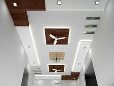 8 Pics False Ceiling Designs For Living Room With 2 Fans ...