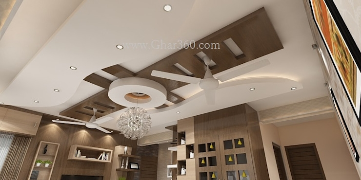 7 Images False Ceiling Designs For Hall With Two Fans And ...
