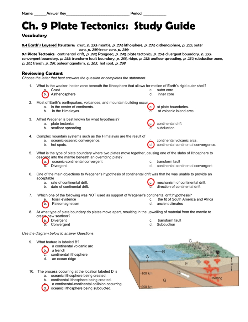 8 Images 9 2 Seafloor Spreading Worksheet Answers And View ...