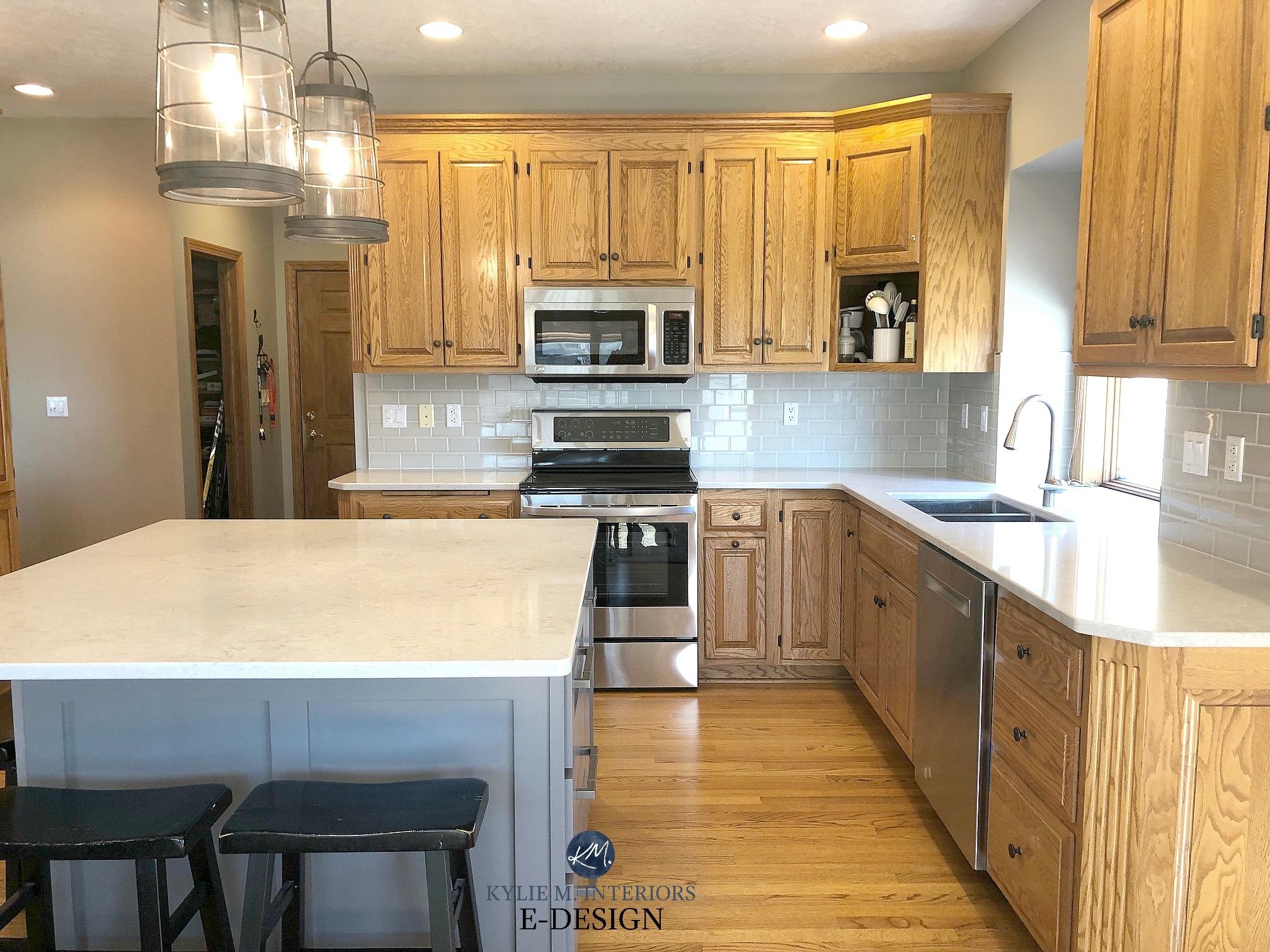 8 Images White Quartz Countertops With Honey Oak Cabinets ...