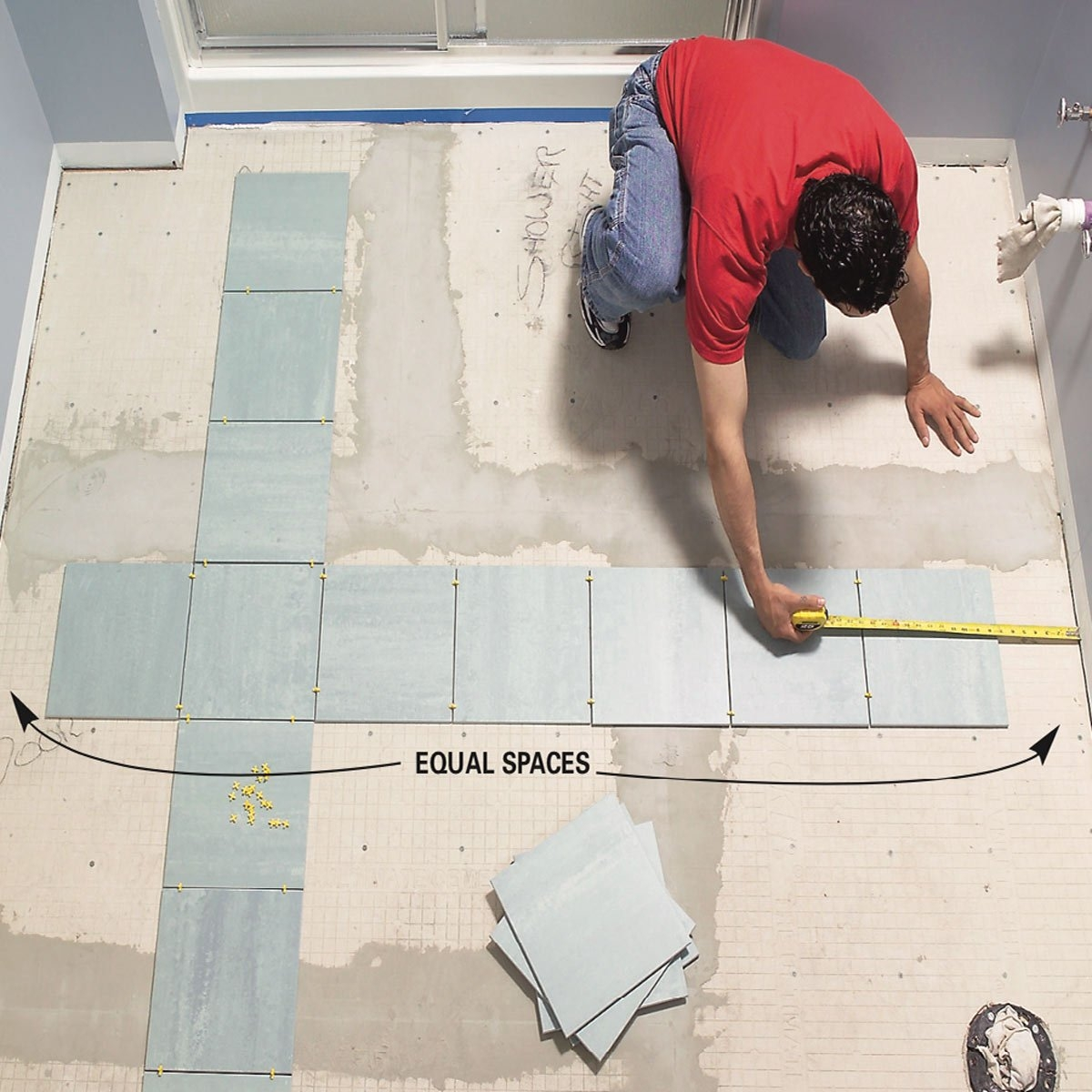7 Photos Should You Tile A Bathroom Floor Or Wall First ...