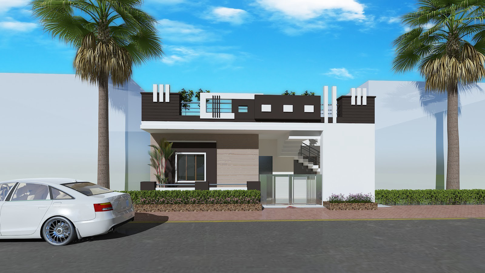 8 Images Home Front Elevation Design Simple Of India And ...
