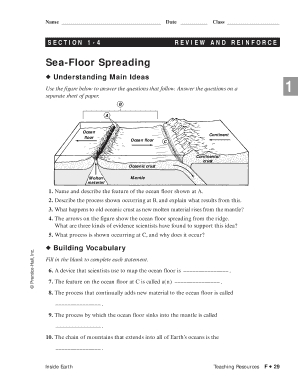 8 Pics Sea Floor Spreading Worksheet Answer And View ...