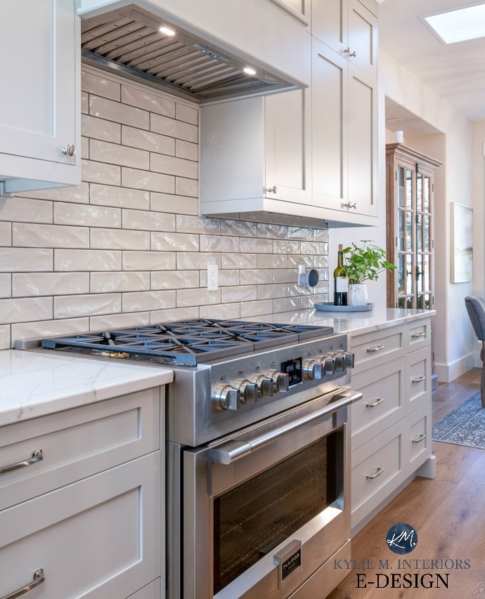 8 Photos White Kitchen Cabinets With Gray Subway Tile ...
